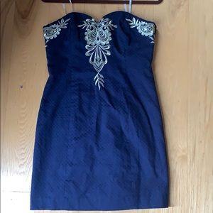 NWT Lily Pulitzer navy Demi dress - size 6